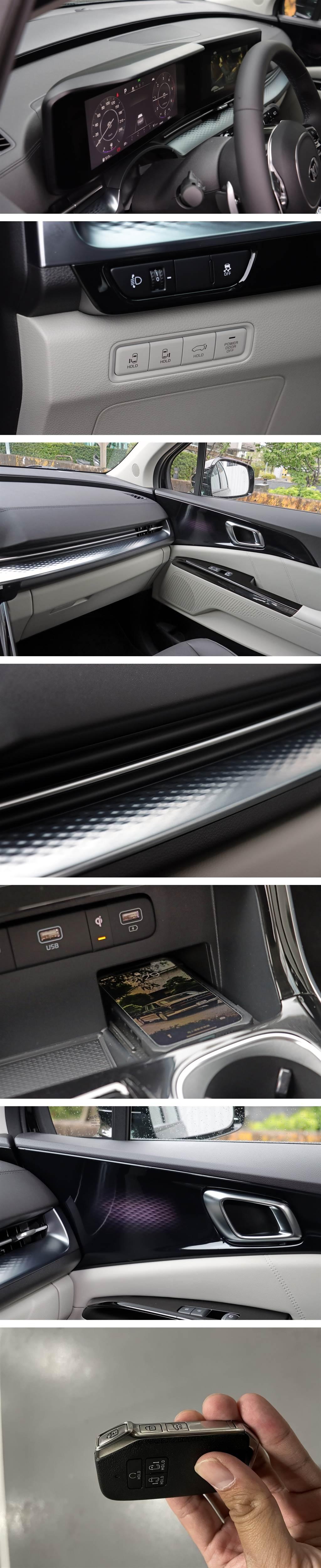 只要鑰匙在身上,即可在無須碰觸車門的條件下,打開側滑門、尾門,甚至是預先啟動引擎(長按上鎖鍵,2秒內按下 Hold)。