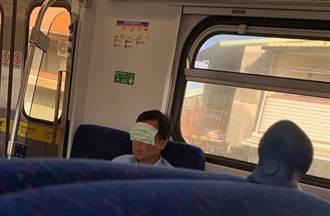 搭火車把口罩當眼罩 劣男遭起底竟是中正大學職員