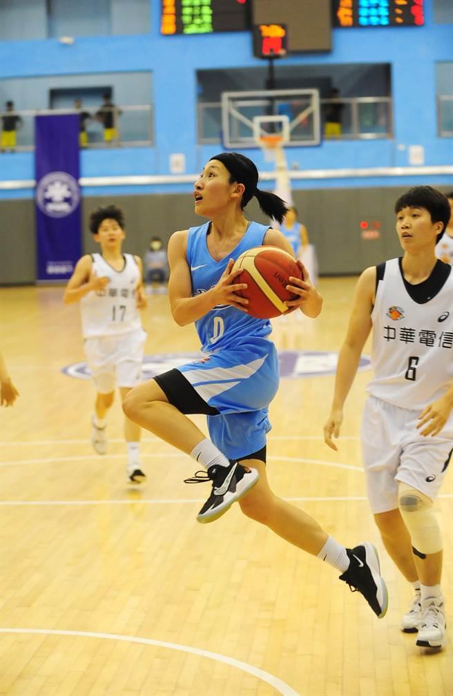 台電陳孟欣菜鳥球季表現毫不生澀,獲得第16季WSBL新人后。(資料照/中華籃協提供)