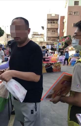 勸導不聽 未戴罩黑衣男飆罵三字經 台南稽查人員怒報警