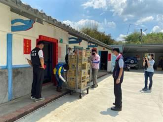 超前布署 大內公所前進馬斗欄部落送防汛糧食物資