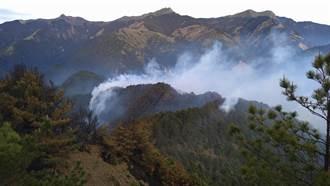 八通關杜鵑營地森林大火 今濕度高延燒速度減緩