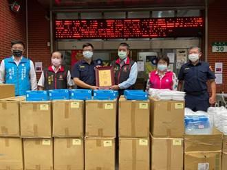 保護社會安定的力量 捐贈防疫物資力挺中和警
