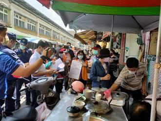 岡山文賢市場1攤販仍開放內用 遭經發局市管處人員舉發