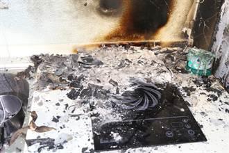 寵物貓疑誤踩電陶爐開關 導致火燒套房