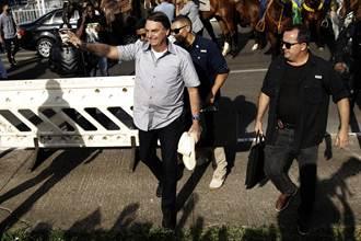 巴西極右總統不聽防疫規定 遭衛生部門罰款