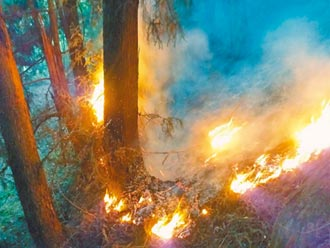 馬崙山大火延燒4天仍未歇