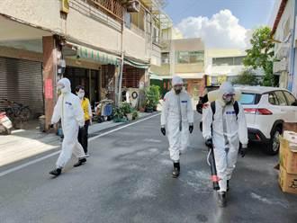 彰化田中大清消 化學兵進駐全鎮22里消毒