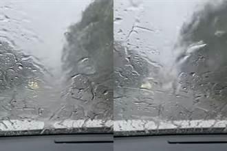 內湖駕駛「整路洗車」看不到路 中南部人熱爆羨慕:忘了啥叫淋雨