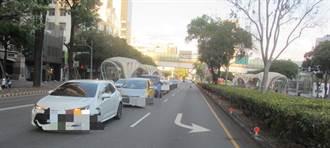 台灣大道雙連環撞 前方疑急煞車 後方追撞