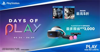 SIE公布Days of Play全球優惠活動 限時15天享優惠