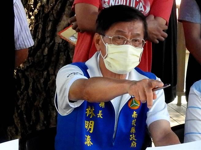 林明溱指出,縣府申請採購疫苗公文,已經報到中央衛福部,希望中央以最快的速度給予肯定的答覆。(南投縣政府提供)
