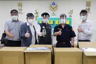 企業捐贈2500片防疫面罩 強化台南一線員警防護安全