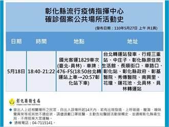 彰化衛生局公布足跡 18日搭國光客運這車次要小心