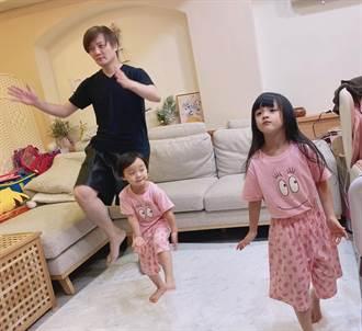 阿沁化身體育老師伴愛女跑跳 陳建寧胖2公斤拚瘦身