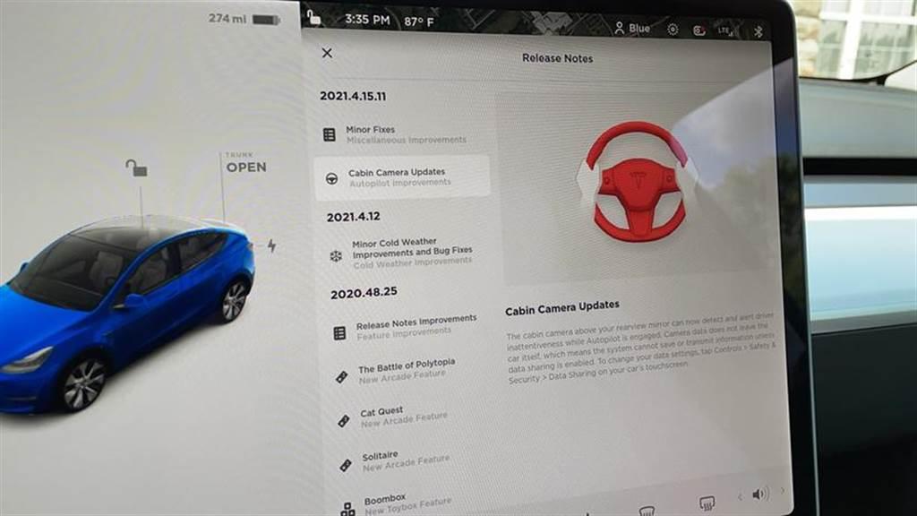 特斯拉 Model 3/ Y 率先啟用車內鏡頭監測駕駛專注度