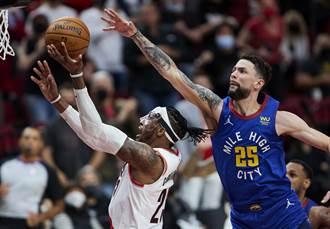 NBA》小瑞弗斯末節狂飆三分 領軍金塊險退拓荒者