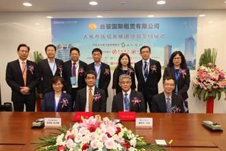 土地銀行統籌主辦台駿國際租賃6億人民幣聯貸案 完成簽約