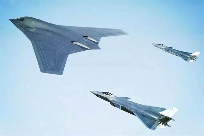 外媒引述專家評估稱,中共轟-20可能在2020年代末具備作戰能力,它的服役將改變太平洋軍事的遊戲規則。圖為轟-20作戰想像圖。(圖/微博)
