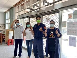 善化派出所裝設「滅菌門」消毒淨身 減少傳染風險
