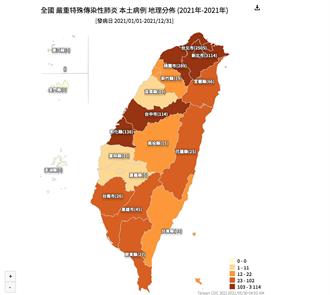 澎湖淪陷 確診地圖曝光 雙北以外感染增加中