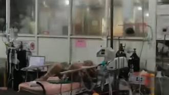台北醫院急診外臨時棚躺病患 鄉民怒:根本人間煉獄