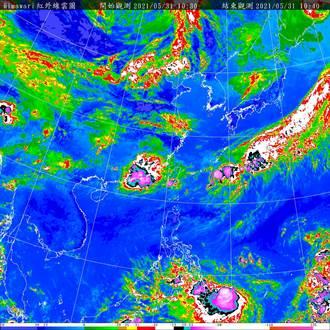 輕颱「彩雲」對台無直接影響 下波鋒面5日抵台
