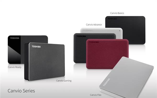 Toshiba 全新Canvio系列外接式硬碟產品陣容。(Toshiba 提供/黃慧雯台北傳真)