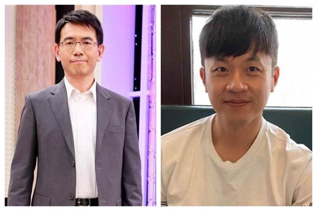 政論節目主持人劉寶傑(左)和焦糖哥哥陳嘉行(右)。(圖為中時資料照)