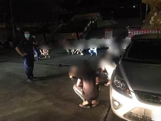高雄15黑衣人帶棍棒喬債遭警逮 未開打全遭開違反防疫罰單