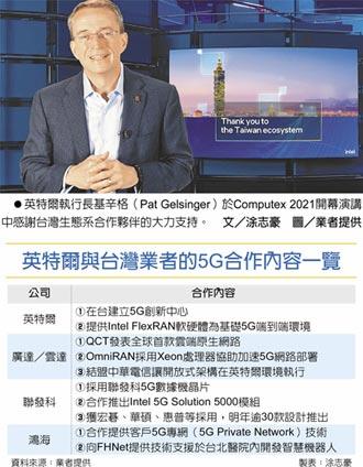 CEO基辛格在COMPUTEX 2021開幕演講宣布 英特爾攻5G 揪廣達聯發科