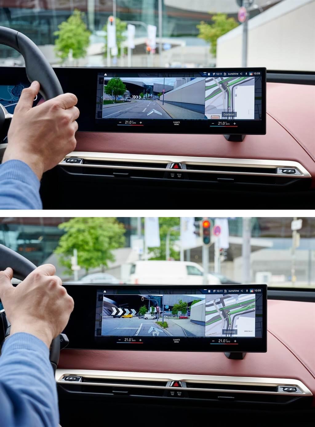 AR擴增實境投影功能與智能衛星導航結合,可在實際的影像中投射方向指示,更精準協助駕駛前往目的地。