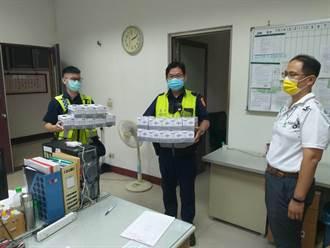 彰化男夜闖警分局 暖送1萬2千片口罩挺警