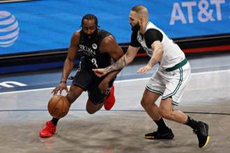 NBA》哈登大三元助威 籃網4比1淘汰塞爾提克