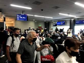 美連假湧現報復性旅遊人潮 機場大排長龍