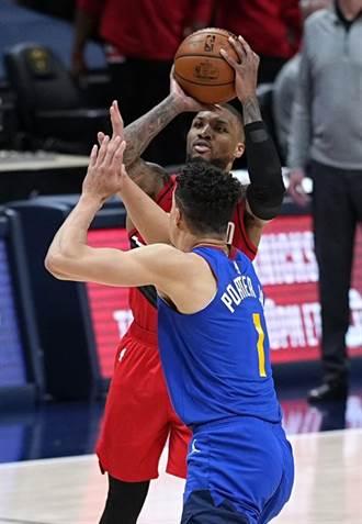NBA》利拉德兩次三分球也無用 金塊2OT克拓荒者聽牌