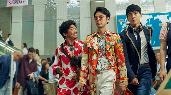 王寶強(左起)、妻夫木聰、劉昊然主演《唐人街探案3》。(車庫娛樂提供)