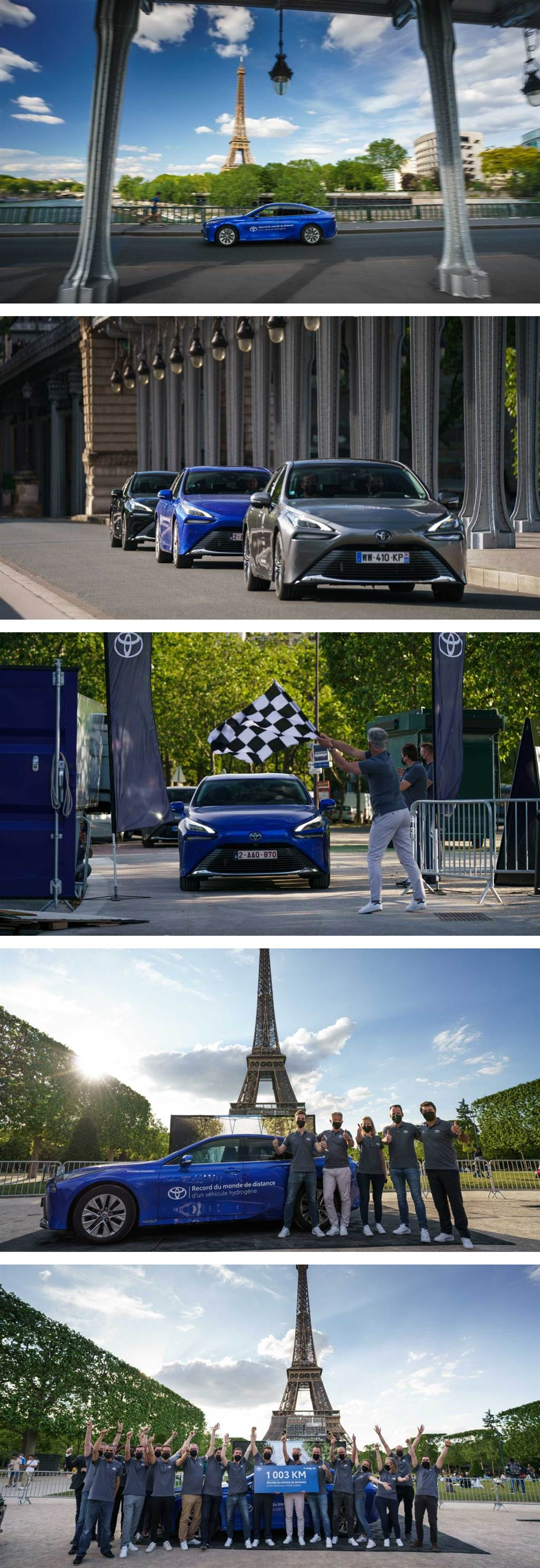 滿載氫氣行駛 1003km,Toyota MIRAI 寫下氫能源車續航里程新世界紀錄!