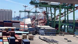 直擊》高雄港橋式起重機突倒下 貨櫃遭撞飛四散1人輕傷