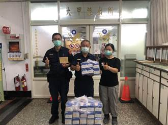 8年前員警協助找母親 女捐近4000片口罩報恩