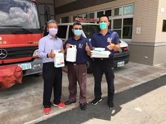 愛鄉企業家捐防疫物資給消防隊 盼疫情早日控制