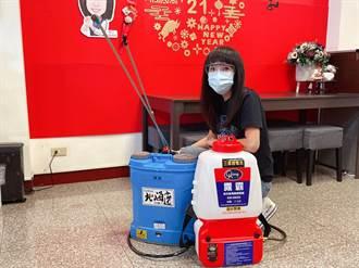 林口「淑君阿姨」組公益團購置450台殺菌噴霧機 過百社區受惠