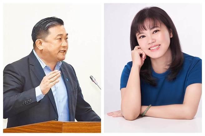 綠委王定宇(左)和國民黨台北市議員游淑慧(右)。(圖為中時合成照)