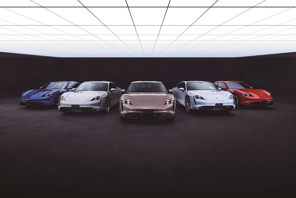 保時捷純電跑車Taycan入門車款正式登台,售價358萬元起。
