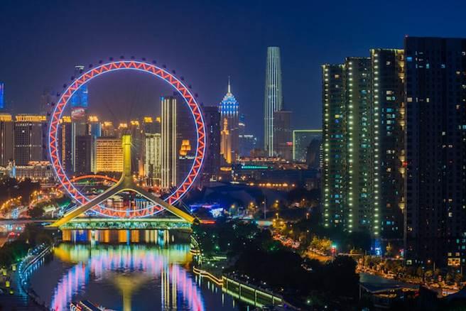 ▲天津著名地標-天津之眼。 圖:Shutterstock/來源