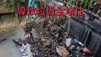 信義區淹水是人為因素?綠議員PO照:「西大排」被垃圾堵死