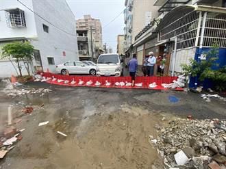 防範短時強降雨 台南出動防水擋板