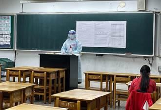 國中會考補考今登場 監試老師全套防護衣、護目鏡上陣