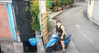 台中女騎車將3大包垃圾丟水溝 將吞2罰單