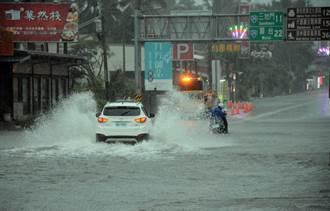 雨炸南臺灣 屏東傳出多處淹水